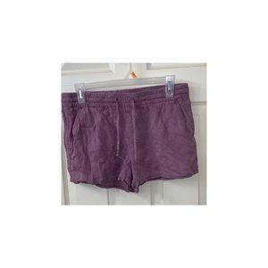 Rose drawstring shorts